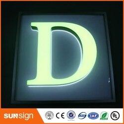 Custom acryl 3d letters met LED licht voor outdoor reclame