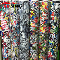 3M/5M/10M/15M/20M/30M X152CM Bomb Vinyl Sticker For Car wrapping Bomb graffiti Car Sticker Bomb vinyl wrap film For motorcycle