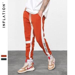 Image 3 - INFLATION Right Choice Side Letter Print Vintage Sweatpants Retro Trousers Men Track Pants Men Women Ins Fashion Pants 8841W