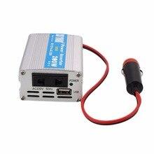 12 V DC a AC 220 V 50 HZ 200 W Inversor de Corriente para Automóvil Adaptador convertidor Adaptador de Potencia de Onda Sinusoidal Modificada con USB 5 V salida