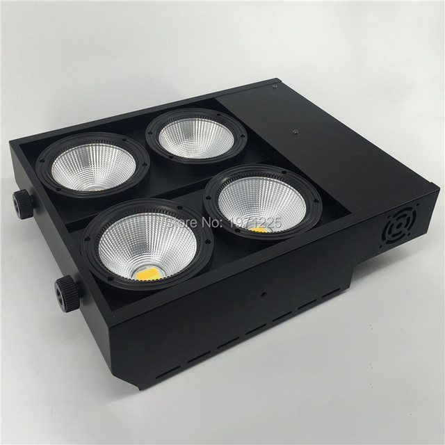 Blinder Light 4x100W COB LED COB 2 Colors cool white and warm white DMX Light With 2 channels for Stage Effect Lighting