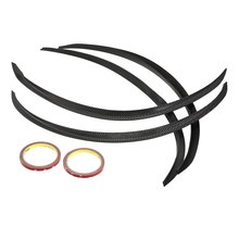 New Universal 4PCS Carbon Fiber Car Wheel Eyebrow Arch Trim Lips Strip Fender Flare Protector Stripe Car Styling Mudguard Fender