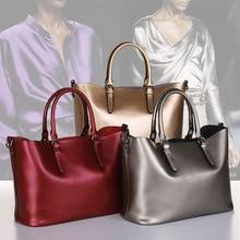 2016 neue Retro Vintage frauen aus echtem Leder Handtasche Tote Trendy damen Umhängetaschen Umhängetasche