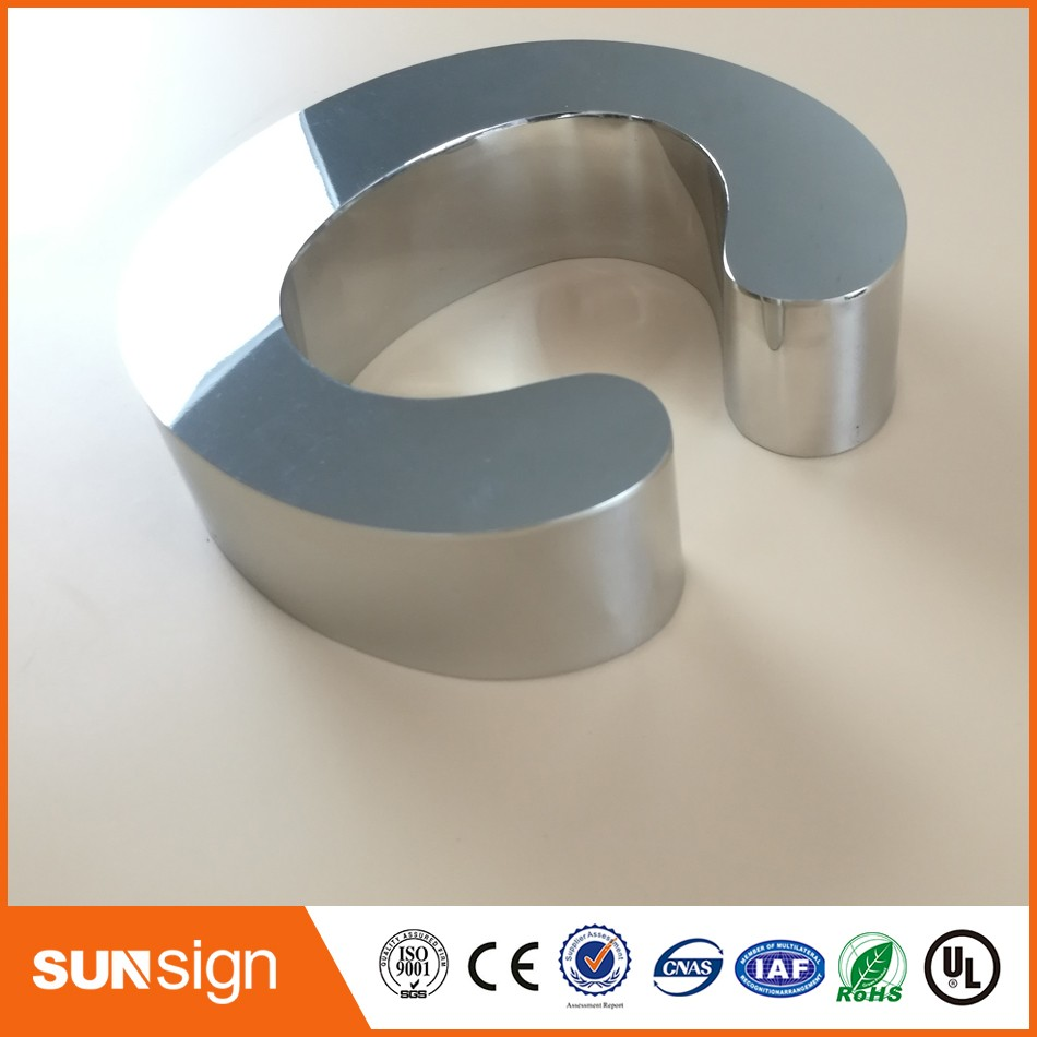Outdoor Custom New Led Stainless Steel Channel Letter Cheap Price Stainless Steel Letter
