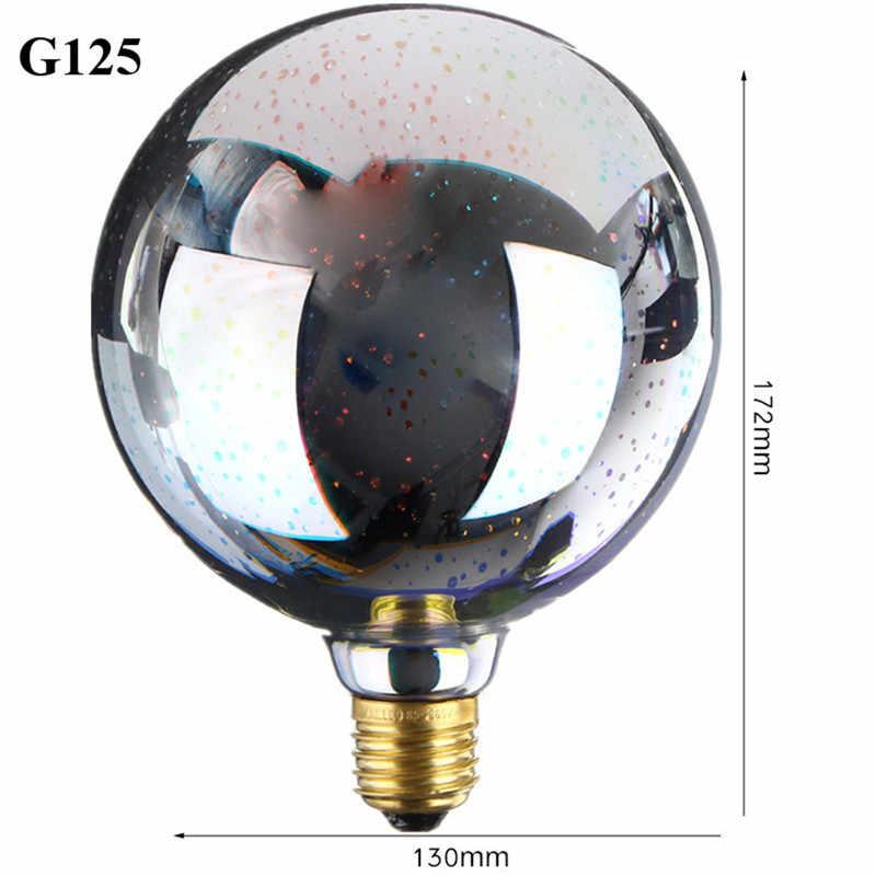 3D Фейерверк лампы пузырь шарика 4 Вт Светодиодный лампочки E27 85-265 В кафе/ресторан/ бар украшение праздника огней красочные ST64 G95
