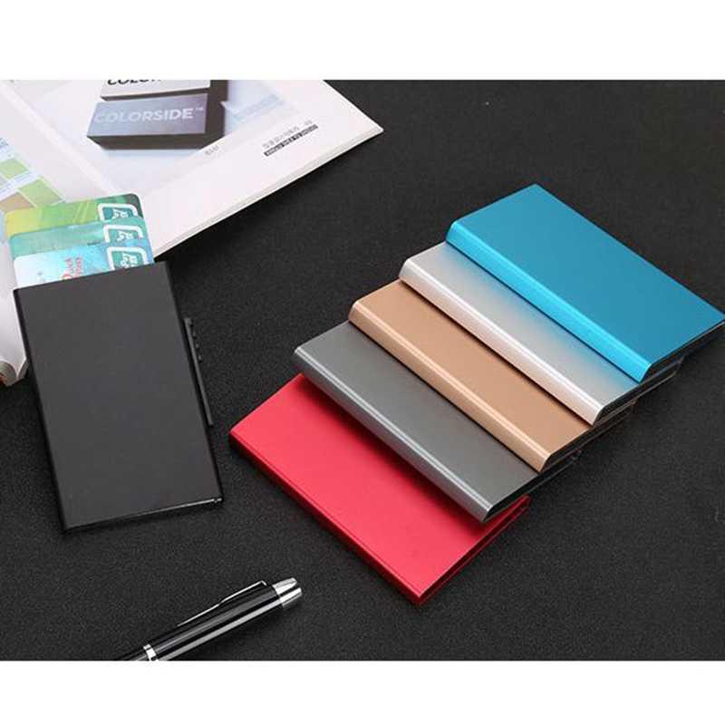 2019 Hot Aluminum Wallet Pocket IDBank Card Holder Women Men Rfid Blocking Mini Slim Metal Wallets Credit Card Case Protector