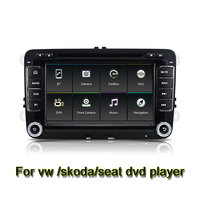Quad Core 7นิ้ว1024*600 Android 6.0 Car DVD GPSวิทยุสำหรับVW G Olf 5 6โปโลPassat Jetta Tiguan Touran Skoda Octaviaที่นั่งWifi