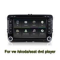 Quad Core 7 pollice 1024*600 Android 6.0 Dell'automobile DVD GPS Radio per VW Golf 5 6 Polo Passat Jetta Tiguan Touran Skoda Octavia Seggiolino Wifi