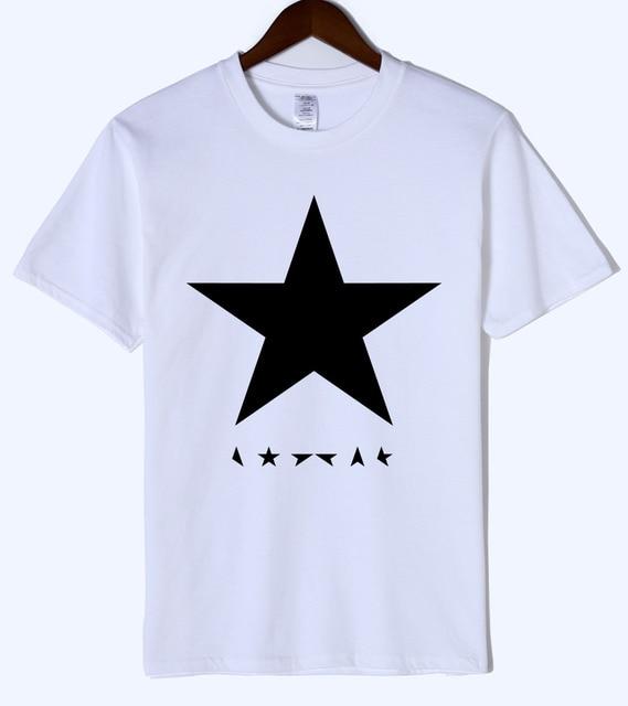 225e3dc87 Hot summer 2019 men's T-shirts David Bowie heroes black star logo fashion T- shirt for men hip hop t shirt men sportswear top tee