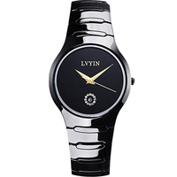 luxury ladies wristwatch ceramic white black womens watches lvyin brand watches 200m waterproof Swim quartz woman clocks