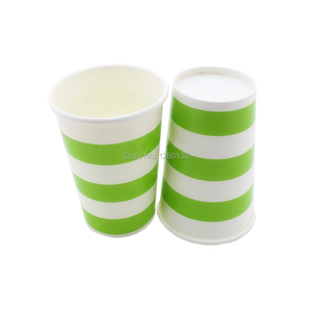 2160pcs Striped Disposable Paper Coffee Cups Drinking Kids Favor ...