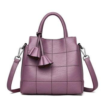 Женские сумки Европа и Соединенные Штаты Мода 2018 новая Диагональная Сумка на плечо трехслойная вместительная сумка