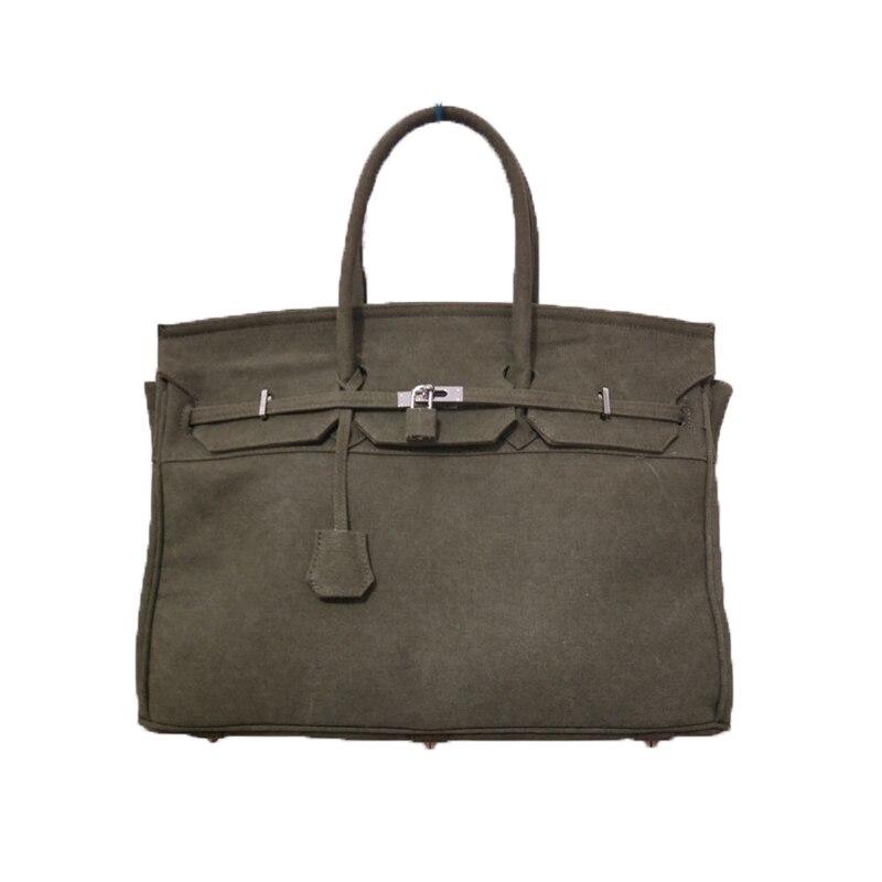 YCUSTBAG 45CM Military Plain Canvas Bag Travel Messenger bag brand Female Handbag Women Crossbody bag luxury vintage Canvas Tote canvas tote bag