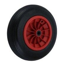 1 pcs 14 Polegada High Load-Bearing-Resistente Ao Desgaste PU Rodas para Carrinhos Trailers Carrinho Sólido À Prova de Punção pneu do carrinho