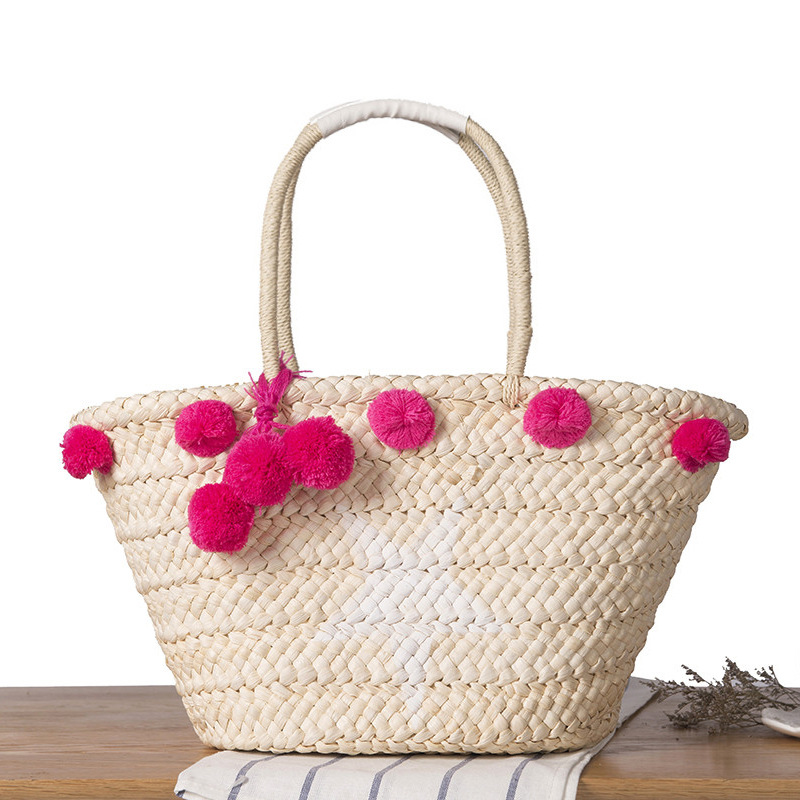 Handmade Embroidered Star Straw Bales Travel Summer Beach Bag For Women Holiday Rattan Bag Ladies Girl Messenger Shopping Bags Luggage & Bags