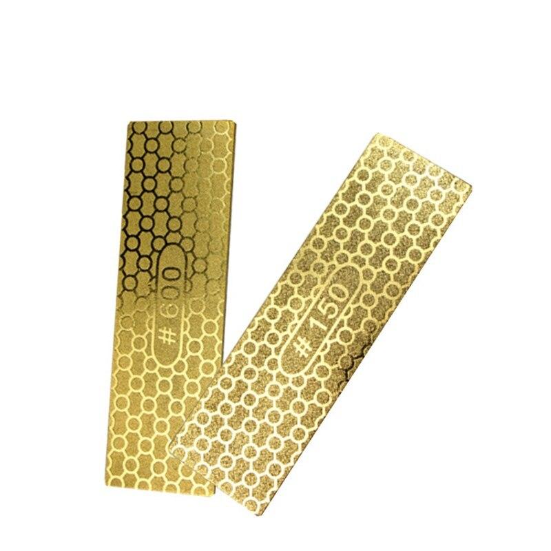 ALLSOME 1pcs Double-sided Diamond Whetstone Sharpening Stone Kitchen Knives Garden Woodworking Abrasive Tools 150# 600# HT082