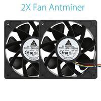 Binmer 2x 6000RPM Cooling Fan Replacement 4 Pin Connector For Antminer Bitmain S7 S9 DE28 Drop
