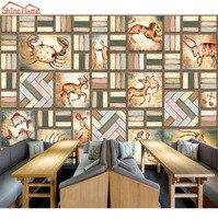 ShineHome-Cổ Điển 12 Sao Đăng Bạch Dương Gemini Libra Aquarius Gạch 3d Wallpaper Bức Tranh Tường cho Bức Tường Phòng Cuốn Wall Paper Rolls
