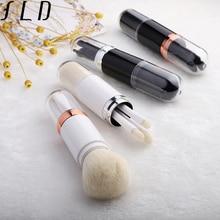 FLD Travel Portable Makeup Brushes Set Mini Eye Brush Powder Blush Tools Kit