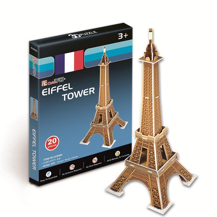 3D Puzzle World Building Paper Modelo dimensional montado Juguetes - Juegos y rompecabezas - foto 5