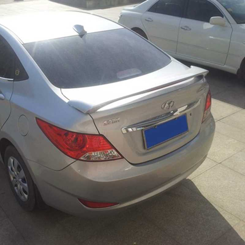بلاستيك ABS من MONTFORD غير مطلي برايمر خلفي للجذع والجناح والشفاه ملحقات السيارة لـ Hyundai Verna 2010 2011 2012 2013