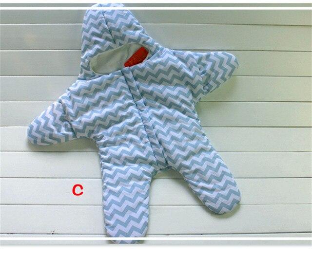 2017 Baby schlafsack sternform winter warme kinderwagen schlafsack fur newborn gestreift baumwolle baby schlafsack einzelhande