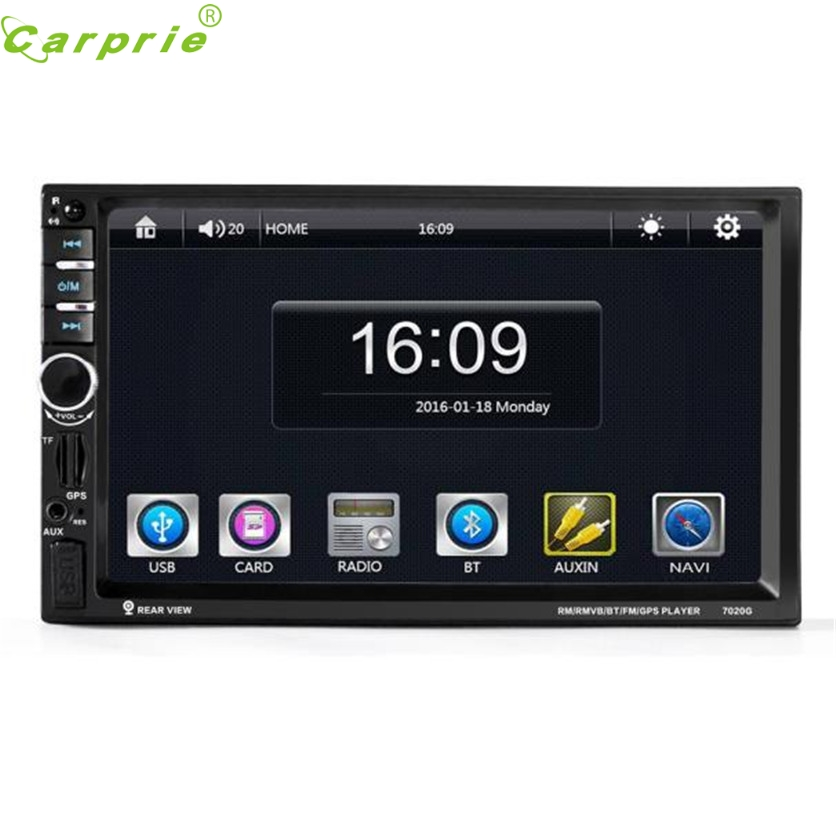 TOP Quility Big Display MP4 7'' HD Bluetooth Touch Screen Car GPS Stereo Radio 2 DIN FM/MP5/MP3/USB/AUX #1209 gps навигатор lexand sa5 hd