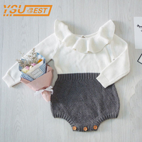 Baby Boys Girls Clothes Ins Hot Autumn Toddler Baby Girl Clothings Ruffles Princess Girl Sweet Knitted