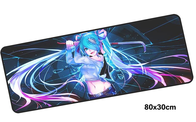 Hatsune Miku mousepad gamer 800x300X3MM gaming mouse pad large miku notebook pc accessories laptop padmouse ergonomic mat