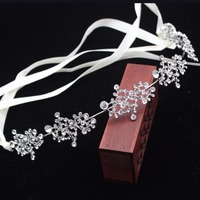 Crystal Silver Gold Flower Vine Bridal Tiara Bride Crown Headbands Girl Women Hair Ornaments Wedding Hair