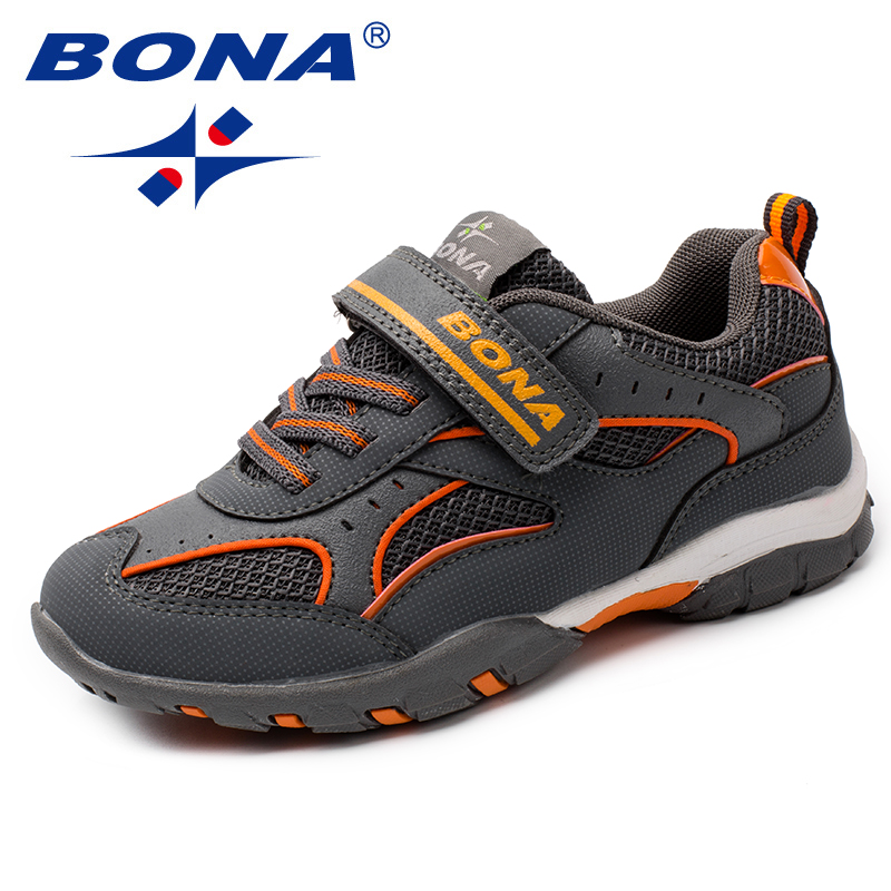 BONA New Arrival Fashion Style Children Casual Shoes Mesh Girls Flats Synthetic Boys Loafers Comfortable Light Free Shipping