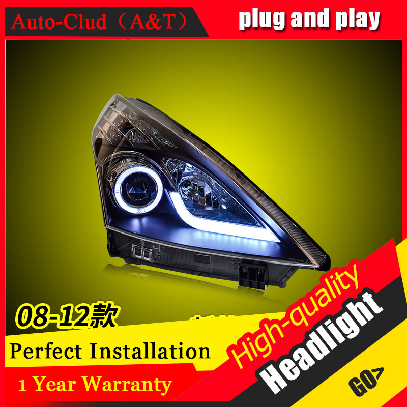Auto Clud Car Styling For Nissan TEANA headlights 2008-2012 For TEANA head lamp led DRL front Bi-Xenon Lens Double Beam HID KIT car styling for chevrolet trax led headlights for trax head lamp angel eye led front light bi xenon lens xenon hid kit