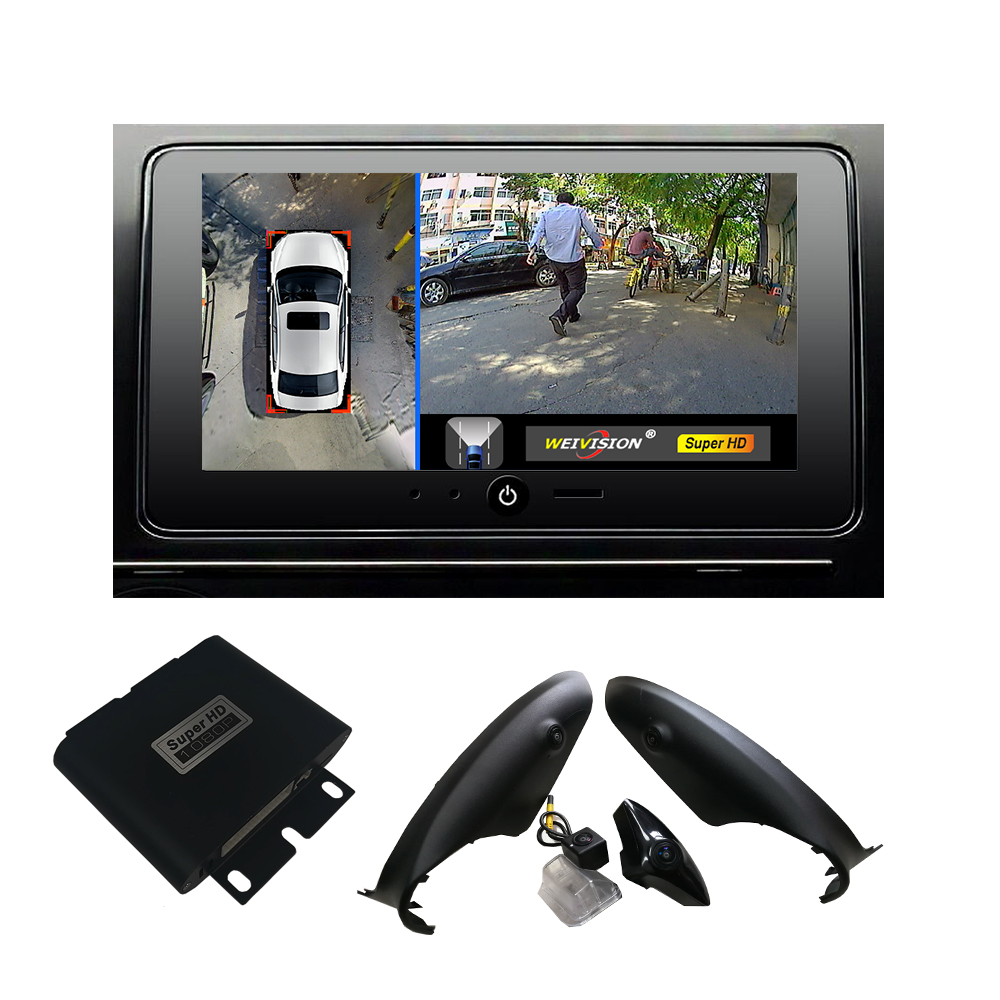 Super HD 1080P 360 bird View Registrazione DVR per auto con parcheggio Monitor Surround per telecamera posteriore Vista per Mazda CX-5