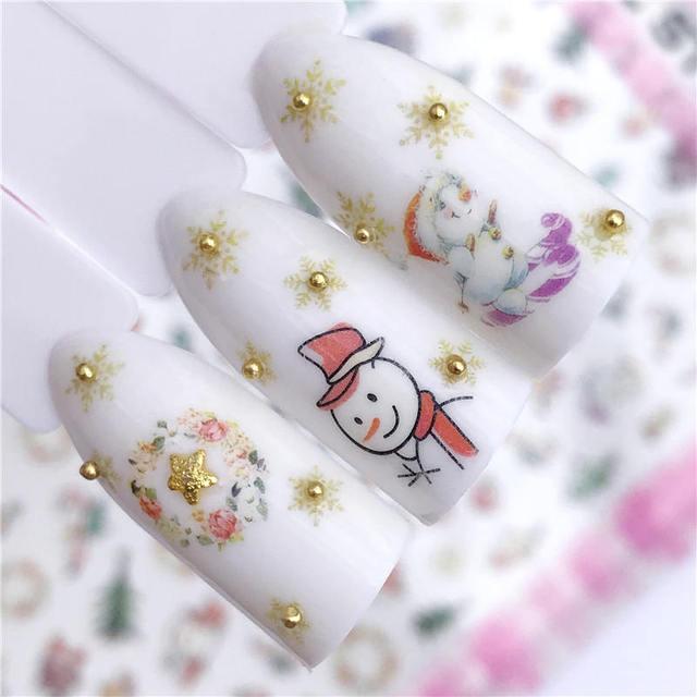 Ywk 2019 New Styles Nail Art Sticker Christmas Series Flower Animal