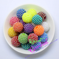 Hot Sell Free Shipping 100Pcs 20MM Mix Color AB Pearl Rhinestone Ball Chunky Beads For Chunky Necklace Accessory