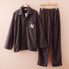 Высокое качество марка главная одежда флиса ткань сна набора длинным рукавом длина брюки гостиная , установленные мужчины Большой размер доступны
