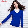 LAFARVIE Free Shipping Autumn And Winter Basic Women Sweater Slit Neckline Sweater Thickening Sweater Top Thread Slim