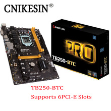 2017 NEW 6PCIE TB250-BTC original For Biostar motherboard TB250 1151 DDR4 mining board (alternative H81 PRO BTC TB85 H81A)