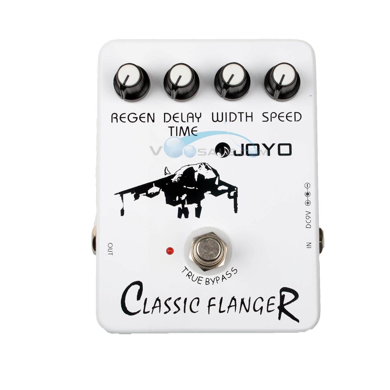 JOYO JF-07 Classic Flanger -efektit kitarapedaali Stompbox-nopeuden palautusleveys Viivästysaika Säädettävä Ture-ohitus kitara-tarvikkeet