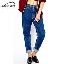 Vintage High Waist Jeans Women Denim Pants 2016 New Slim Pencil Pants Capris Trousers Fits Lady Jeans Women Jeans Plus Size