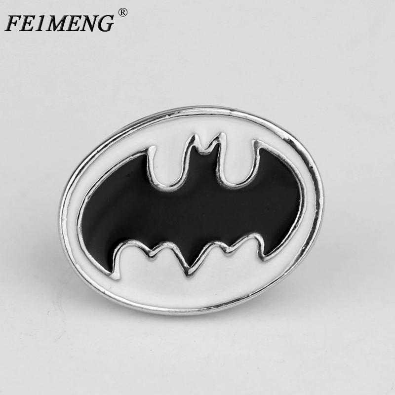 225785401543 Fashion Superhero Batman Brooch DC Comics Black Enamel Metal Badge Brooch  Pin For Women Men's Fashion