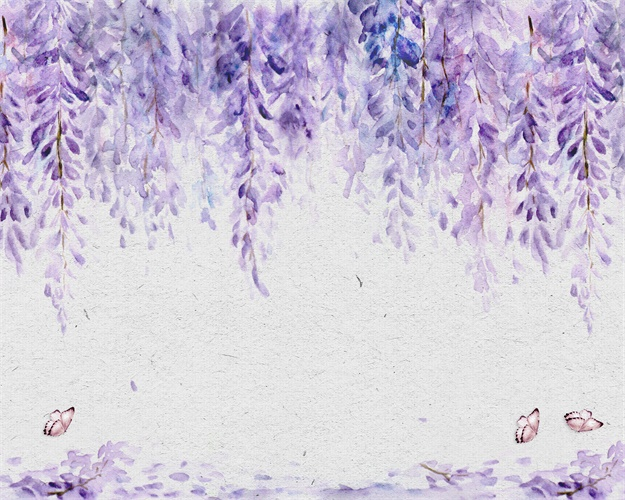 Purple flowers Nordic Prints Canvas Painting Calligraphy Home Decoration Wall Art Posters Pictures For Living Room Bedroom in Painting Calligraphy from Home Garden