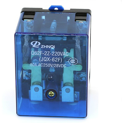 JQX-62F 80A 220V Coil High Power Relay 220V AC jqx 62f 120a coil high power relay ac 220v