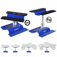 Metal Aluminum RC Car Workstation Work Stand Repair 360 Degree Rotation For 1/8 1/10 1/12 1/16 Scale Model