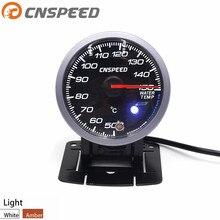 CNSPEED 60 мм Автомобильный датчик температуры воды 50-150C с датчиком температуры воды с белым и янтарным освещением автомобильный измеритель YC101413
