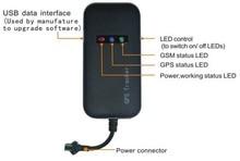 4 banda car tracker GPS GT02A plataforma LIBRE dirección real Google enlace envío gratis android y Iphone APP