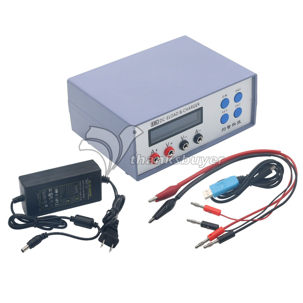 EBC-A05+ Battery Capacity Power Performance Electronic Load Tester Charger for Mobile Battery Computer 5V Output battery capacity tester battery capacity tester electronic load can be connected to the computer tec 12p