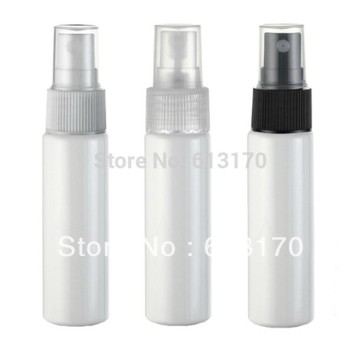 30ML PET spray bottle White Empty perfume bottle Travel refillable cosmetic packing container 50pcs wholesale/retail