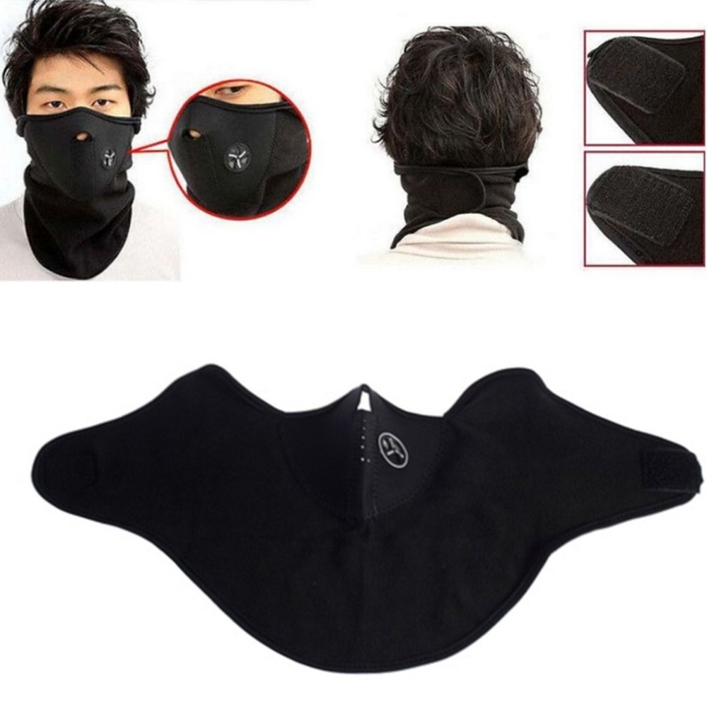 Black Winter Windproof Warmer Mask Face Mask Thermal Hat Hood 6 In 1 Ski Bike Neck Fleece Motorcycle Mask For Dropshipping