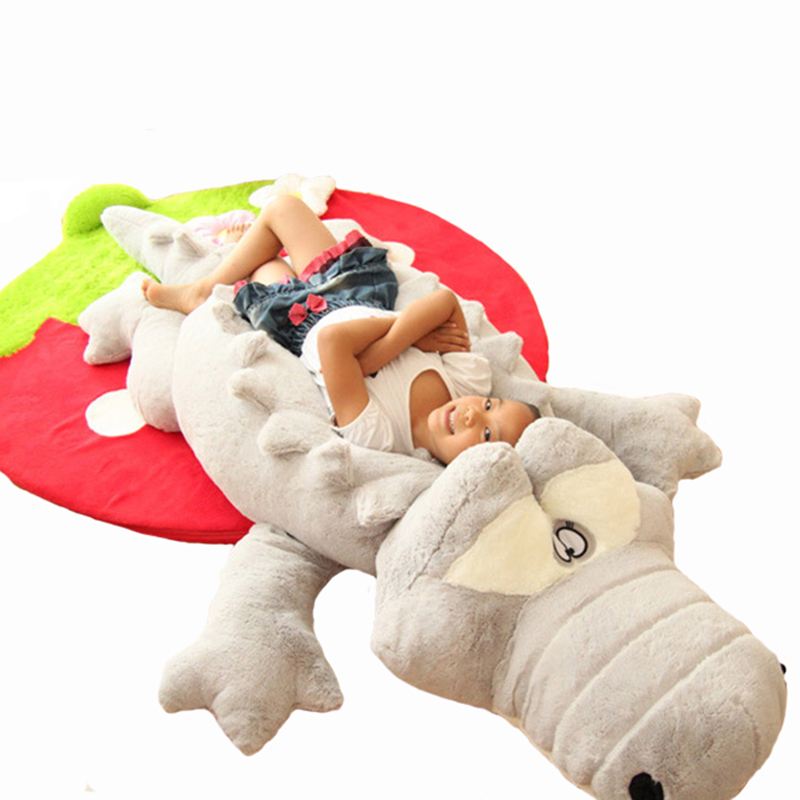 60cm Cute Crocodile Lying Section Plush Pillow Mat Plush Hand Doll Stuffed Toy Cartoon Plush Toys Kids Prize Gift WJ496 cute labrador big plush toy lying dog doll search and rescue stuffed toys children birthday gift pillow